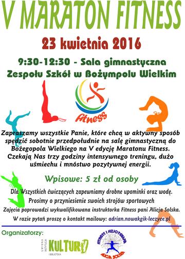 5 Maraton Fitness Plakat