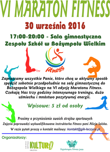 6 Maraton Fitness - Plakat