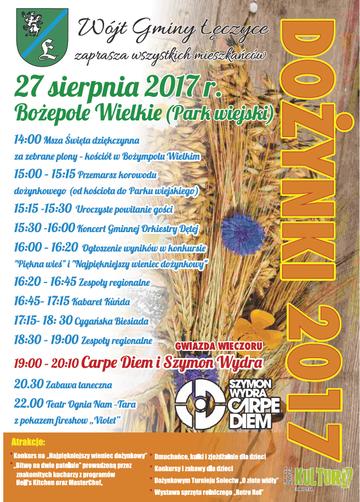 plakat dozynki_2017